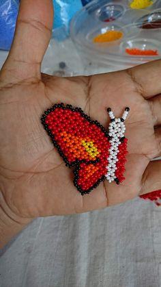 Beaded Bags, Beaded Bracelets, Butterfly Project, Handmade Beads, Brick Stitch, Mandala, Earrings, Projects, Pattern