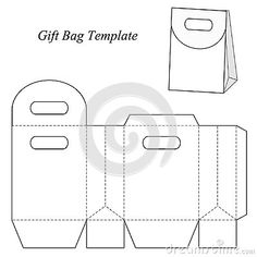 Blank Gift Bag Template With Round Lid Stock Vector - Illustration of food, candy: 48154666 Origami Paper Art, Origami Box, Diy Paper, Diy Arts And Crafts, Diy Craft Projects, Foam Crafts, Paper Bag Design, Origami Templates, Box Templates