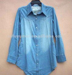 casual camisas de mezclilla para las mujeres - spanish.alibaba.com