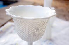 DIY: milk glass
