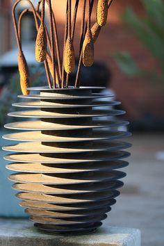 Steel vase