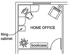 With desk turned towards window! home office idea