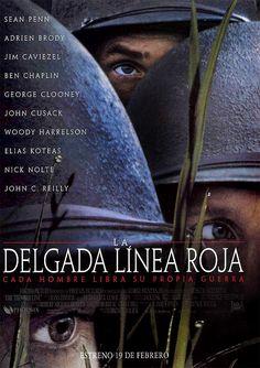 1998 - La delgada línea roja - The Thin Red Line Drama Movies, Hd Movies, Movie Tv, Films, Movies Online, Sean Penn, Jim Caviezel, George Clooney, Hd Streaming