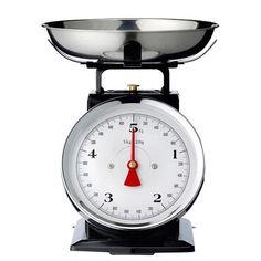 Black Vintage Kitchen Scale