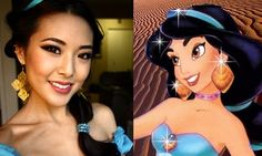 Disney Princess Jasmine Halloween Tutorial | frmheadtotoe.com