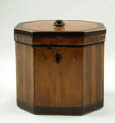 A George III Single Compartment Inlaid Mahogany Tea Caddy C 1790 | eBay