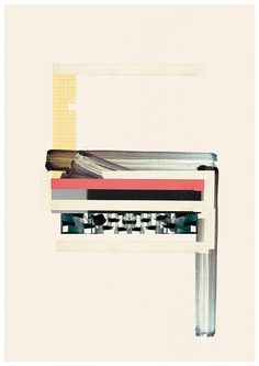 Geometric art print Abstract collage Abstract by jesusperea, $30.00