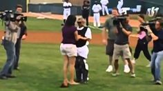 Soldier Surprises Girlfriend at Baseball Game, Then Proposes!