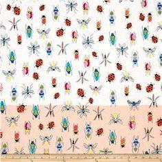 Alexander Henry June Bug Tropical Types Single Border Natural/Peach