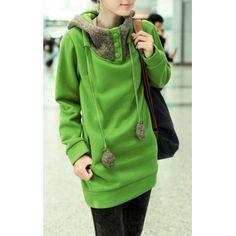 Casual Color Block Loose-Fitting Long Sleeve Hoodie For WomenSweatshirts & Hoodies | RoseGal.com