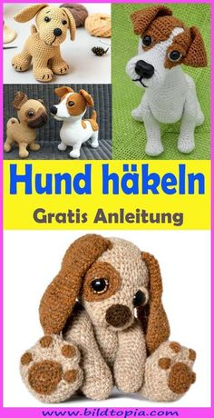 Crochet Amigurumi Dog - Free & Easy Instructions In This Free DIY . - Crochet Amigurumi Dog – Free & Easy Instructions In this free DIY tutorial I will show you how to - Crochet Gratis, Crochet Amigurumi, Crochet Teddy, Crochet Bunny, Cute Crochet, Crochet Animals, Amigurumi Doll, Easy Crochet, Easy Knitting Projects