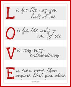 Love (Nat King Cole). Like this pin? Follow the board for more like it! http://www.pinterest.com/duoparadigms/print-designs/