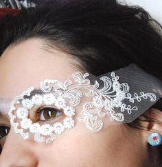 Sexy Pirate Eyepatch Victorian Gothic Eye Patch White by lovelyart, €15.00