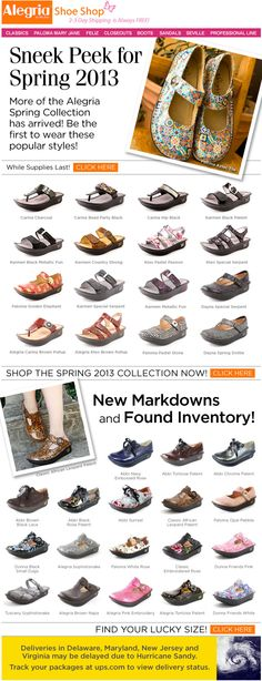 ... of the Alegria Spring 2013 Collection is here at Alegria Shoe Shop