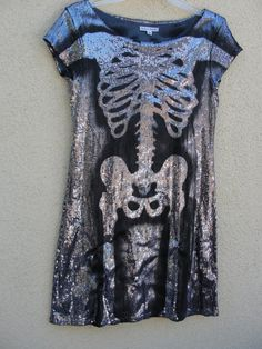 Grey and silver sequin sparkly skeleton dress by MySunshinesCloset, $47.00 Skeleton Costumes, Skeleton Dress, Cute Costumes, Halloween Costumes, Lucy Costume, Costume Dress, Halloween Looks, Halloween Town, Haloween Ideas