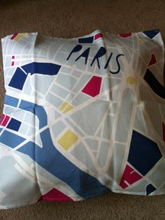 map pillowcase