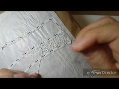 Artesanato em renda renascença passo a passo como fazer o ponto abacaxi-DIY - YouTube
