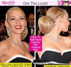 Blake Lively's Bun - How To Get Her Sleek Cannes 2014 Hairstyle