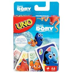 Uno Disney/Pixar Finding Dory Theme Card Game, Players Ages See Package Uno Card Game, Uno Cards, Family Card Games, Card Games For Kids, Free Card Games, Mattel Shop, Classic Card Games, Animal Puzzle, Fun Board Games