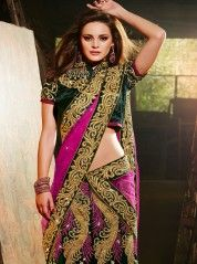 Enthralling gold cutwork lehenga choli: KLH2450