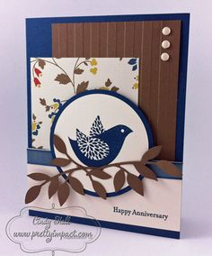 Paper:  Midnight Muse*, Comfort Cafe DSP*, Soft Suede and Very Vanilla;  Stamp Sets:  Betsy's Blossoms* and Teeny Tiny Wishes