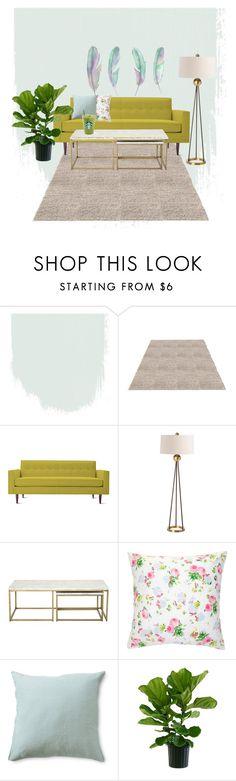"""bad"" by alfionitaparamita on Polyvore featuring interior, interiors, interior design, home, home decor, interior decorating, Design Within Reach, Arteriors and living room"