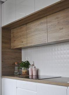 Mieszkanie Kraków,50m2. Realizacja - Mała otwarta kuchnia w kształcie litery l jednorzędowa, styl skandynawski - zdjęcie od Architekt wnętrz Klaudia Pniak