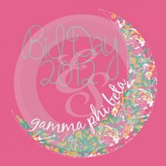 GPHI sorority design-to the moon and back-gamma phi beta-crescent moon-floral, pink, and white. Would be great for a sisterhood event or just for any PR order!