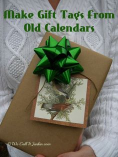 hand made gift tag calendar  We Call it Junkin
