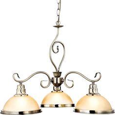 Kronleuchter Adamu 3 Kerzen Altmessing Landhaus Rustikal