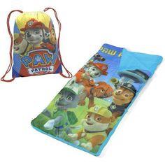 Nickelodeon Paw Patrol Boys' Sling Bag Slumber Nap Mat Set, Blue