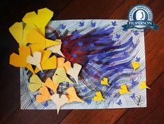 Para as folhas foram usados os papéis Filipinho Color Cards e Filipaper Classics na cor amarelo, folhas do Bloco Lumi, cor laranja e salmão e para a base da aquarela e desenho/colagem o bloco de Papel Profissional com 30% de algodão, no tamanho A3. Mais informações dos papéis na loja virtual: www.lojafilipaper.com.br