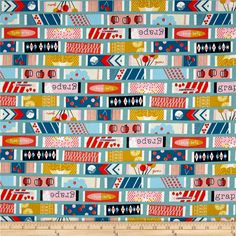 Cotton & Steel Fruit Dots Fruit Gum Blue from @fabricdotcom  Designed by Melody Miller for Cotton + Steel, this cotton print is perfect for quilting, apparel and home decor accents. Colors include shades of blue, pink, orange, cream, gold, navy blue and white.
