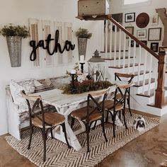 395 best Farmhouse Dining Rooms images on Pinterest | Home ideas ...