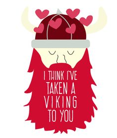 Printable viking valentines by Paperelli for The Dating Divas