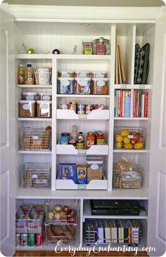 Shelf Wall in Pantry