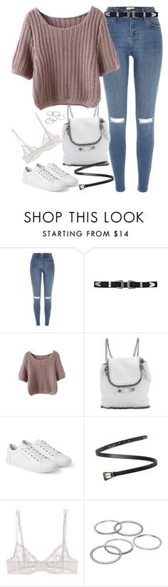 """Untitled#4504"" by fashionnfacts ❤ liked on Polyvore featuring River Island, STELLA McCARTNEY, Dolce&Gabbana, Yves Saint Laurent, La Perla and Apt. 9"