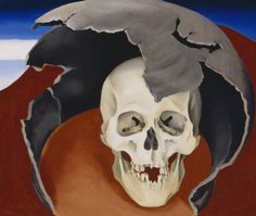 """Georgia...be still my heart.  Head with Broken Pot by Georgia O'Keeffe from the online museum archive.  [Because they are using a database, the link will not pick up correctly, but you can go to okeeffemuseum.org and search the online collection for """"skull"""" and find this as well as many other pieces!]"""