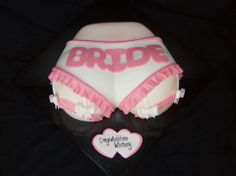 """Bridal Butt - Haha- this cake is so silly. I used a heart pan for the general shape and I also filled both halves of the Wilton ball pan about with batter for a little extra """"umph! Our Wedding Day, Dream Wedding, Wedding Stuff, Wedding Ideas, Bride Cupcakes, Wilton Cake Pans, Cake Shapes, Bridal Shower Cakes, Unique Cakes"""