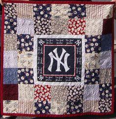 New York Yankees Quilt Pattern | Grandson Nicholas' Quilt # 2 of 3 New York Yankee Quilts