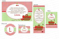 Kit Digital para imprimir PicNic - Verde e Vermelho