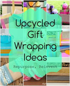 Upcycled Gift Wrapping Ideas - reuse food boxes, toilet paper rolls, and other containers for gift wrapping small gifts.
