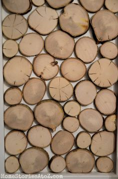 How to create wood rounds to place on wall or for other craft/design projects. Tutorial.