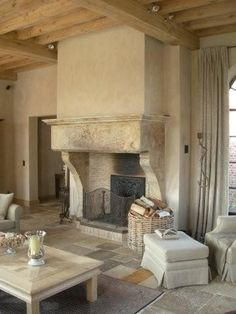 Home, Cottage Fireplace, Fireplace Design, Western Decor, House, Italian Home, Tv Room, Fireplace, Room Design