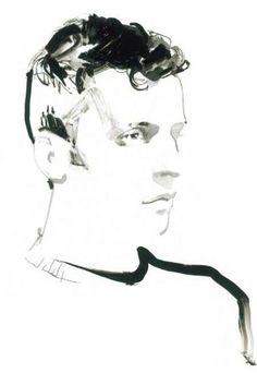 David Downton's exclusive portrait of Marios Schwab