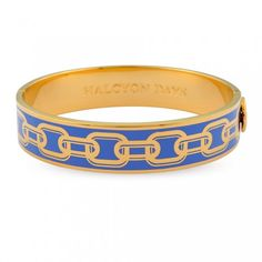 Chain Bangle, Bluebell & Gold