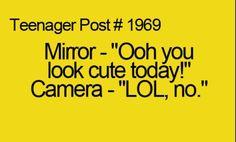 Mirror vs. camera teenager post