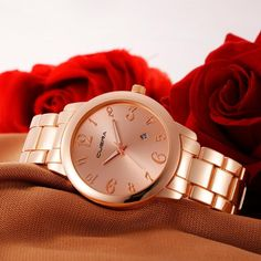 35d9cf304d5 CUENA Brand Luxury Watch Woman 2017 High Quality Stainless Steel Gold Rose  Sliver Black Analog Quartz