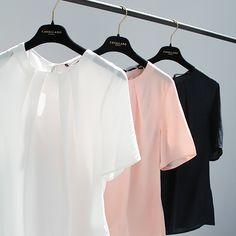 Mariella Top - FW15 #blouse #top #pink #powder #white #navy #black #elegant #newarrivals #FW15 #Fall #Winter #kleding #dameskleding #womenswear #CavallaroNapoli #shop #fashion #Italiaansekleding #stijlvol #italy