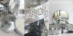 Peilialustoja juhliin somistevuokraamo.fi:stä Mirror trays for centerpieces and candels.